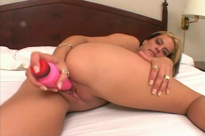 Magnificent Busty Blonde Is Toying Her Wet Pussy