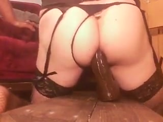 WHITE SLUT stretches ass wide with 4 BIG BLACK dildos Desi sex scandals free