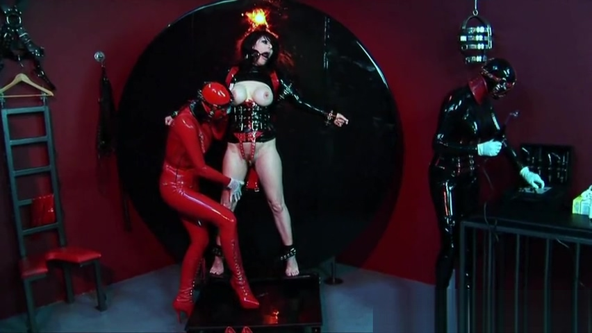 Rubber clad trio dominatrix action Tight Skinny Teen Fingers Pussy
