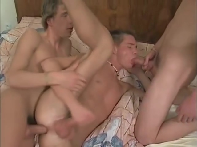 Hot Twink Threesome Penis hole panties