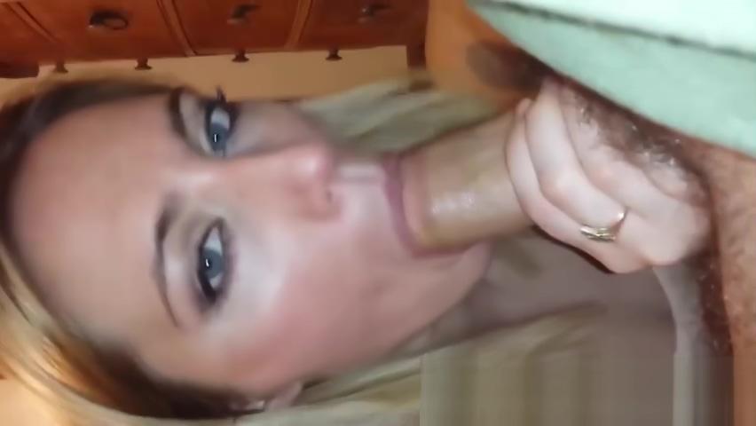 Beautiful blonde sucks a big dick
