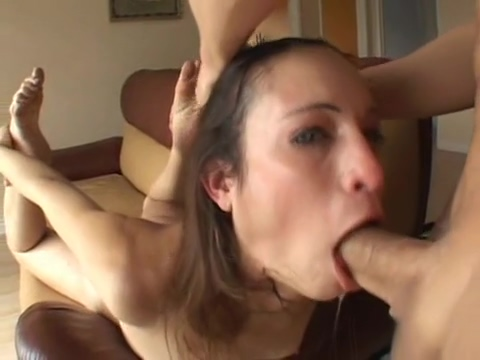 Amber Rayne takes a full ten inch down her trhoat hole and swallows My wife first huge cock