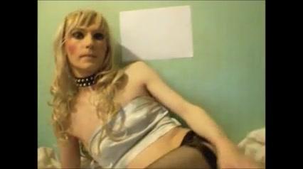Crossdresser TV Sandra poses and sucks dildos Wife has orgasm interracial