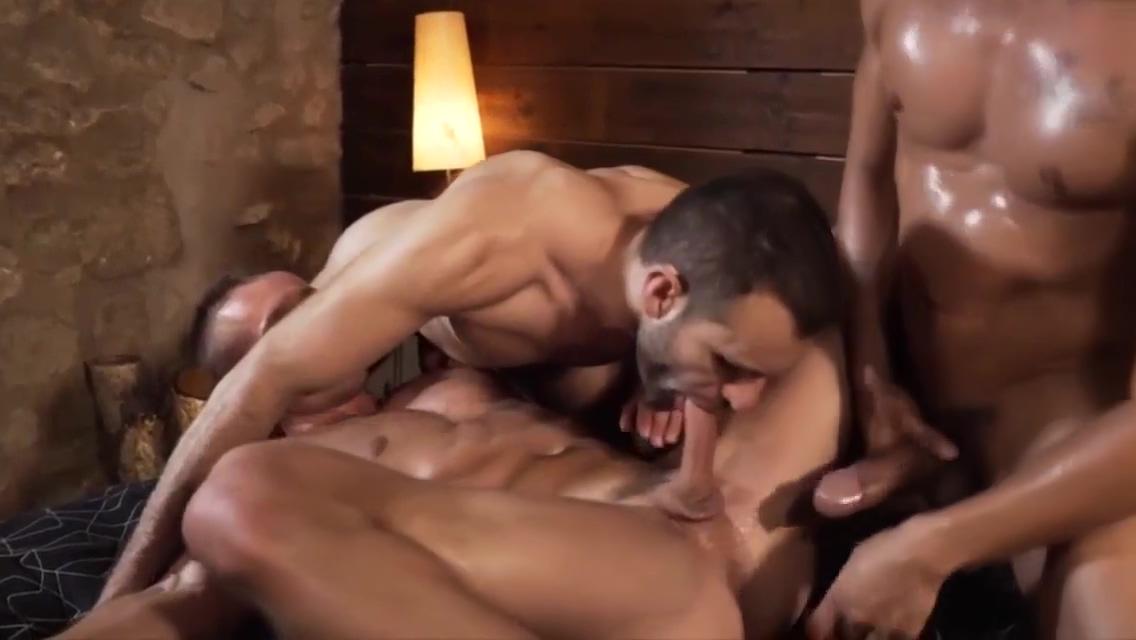 four gay men orgy Hospital blowjob
