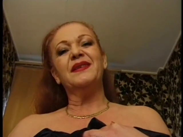 Corpulent old redhead french granny