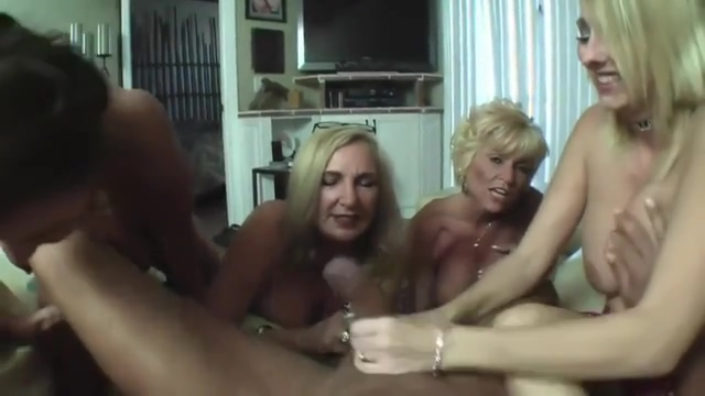 lucky guy wanked off by four lovely smoking matures Kenny woods