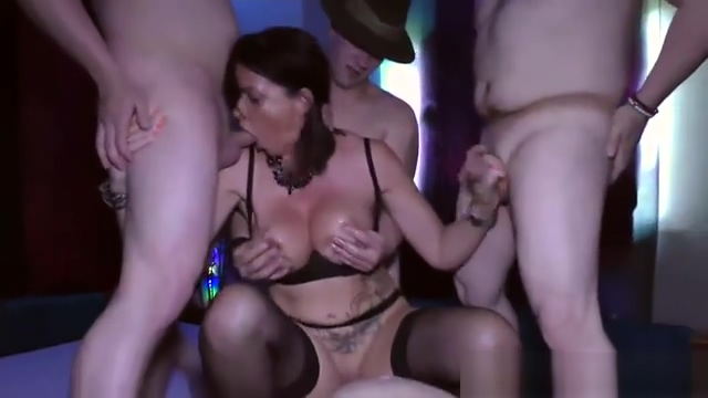 Gangbang With Busty Milf Dacada, HD From Lederhosen Gangbang Large boil near anus