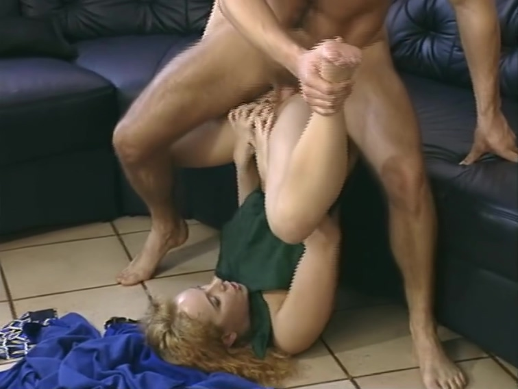 Hot redhead hits all the right spots. Coco bending over naked fuck