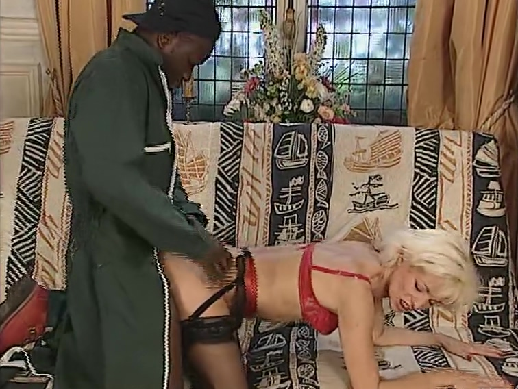 Older blonde loves the black cock. She said stop