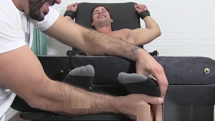 Tied up amateur laughs his ass off while being tickled fantasy sex with dragons