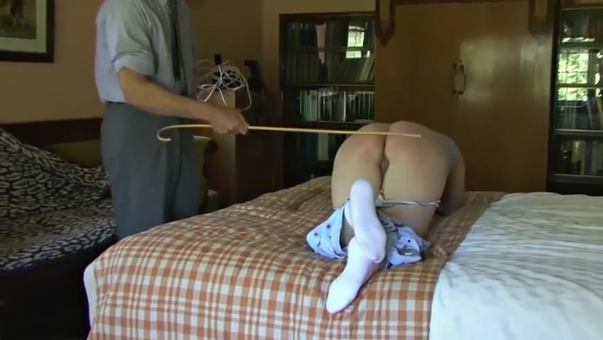 Teen spanked,strapped&caned on her barebottom for Masturbating