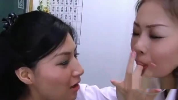 Schoolgirl And Teacher Kissing Spitting Sucking Noses Licking Face In The Classroo Mind control orgasm