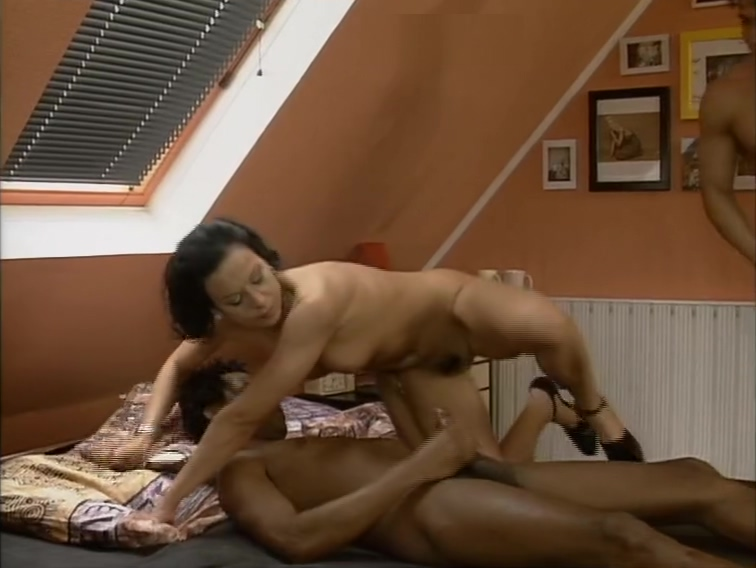 Horny brunette gets doubleteamed by white and black guy Hot male masturbation story