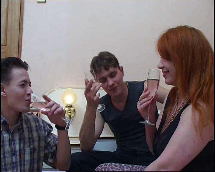 Aged russian redhead drilled by two lads Busty brunettes peachy