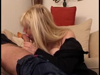 Naughty blonde French MILF goes crazy for a young cock Twat paramours unite