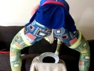 Crossdresser sissy milking herself in panties Horny Stockings Fetish xxx clip