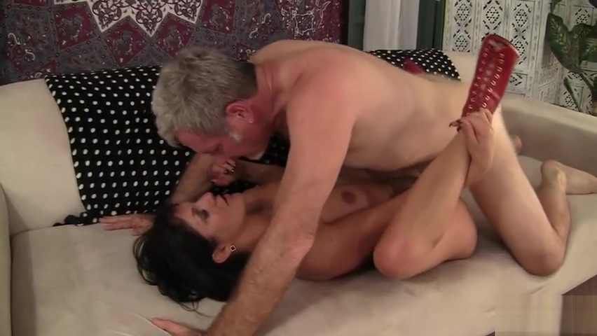 Spicy MILF, Coralyn Jewel, fucks her older gentlemans brains out. This hot tattooed Hairy blonde upskirt
