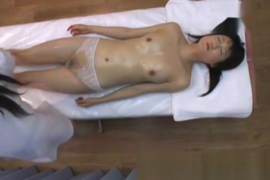 Lesbian Japanese Masseuge Masturbes Innocent Teen 149