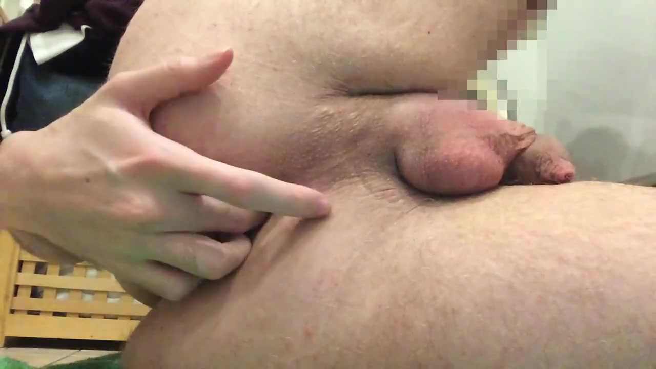 Huge Buttplug Anal Stretching Cum belly hairy