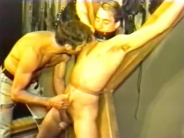 male bondage girl getting double fisted