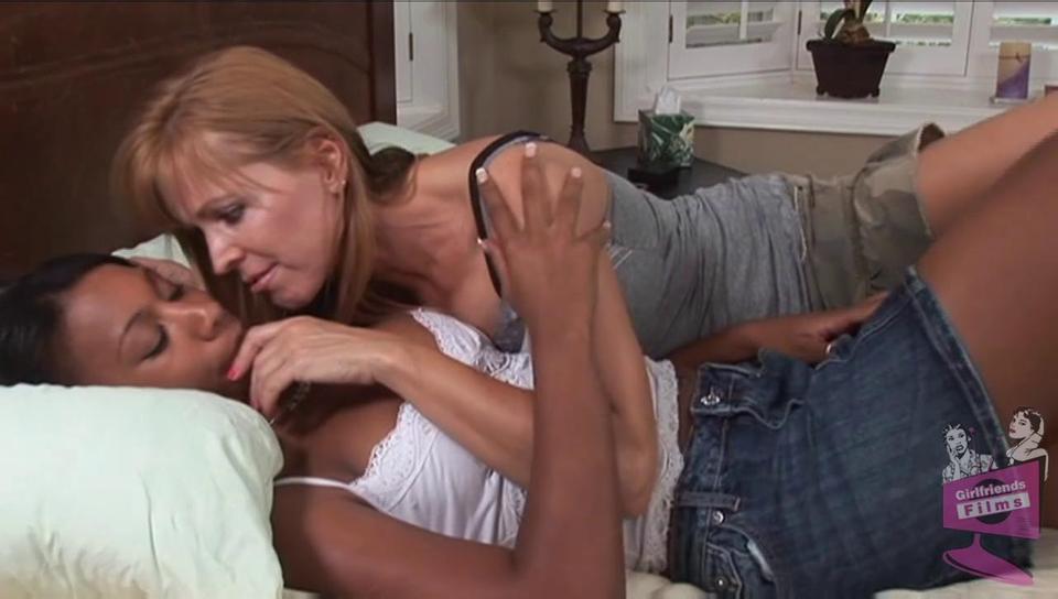 Lesbian Teen Playing Panties