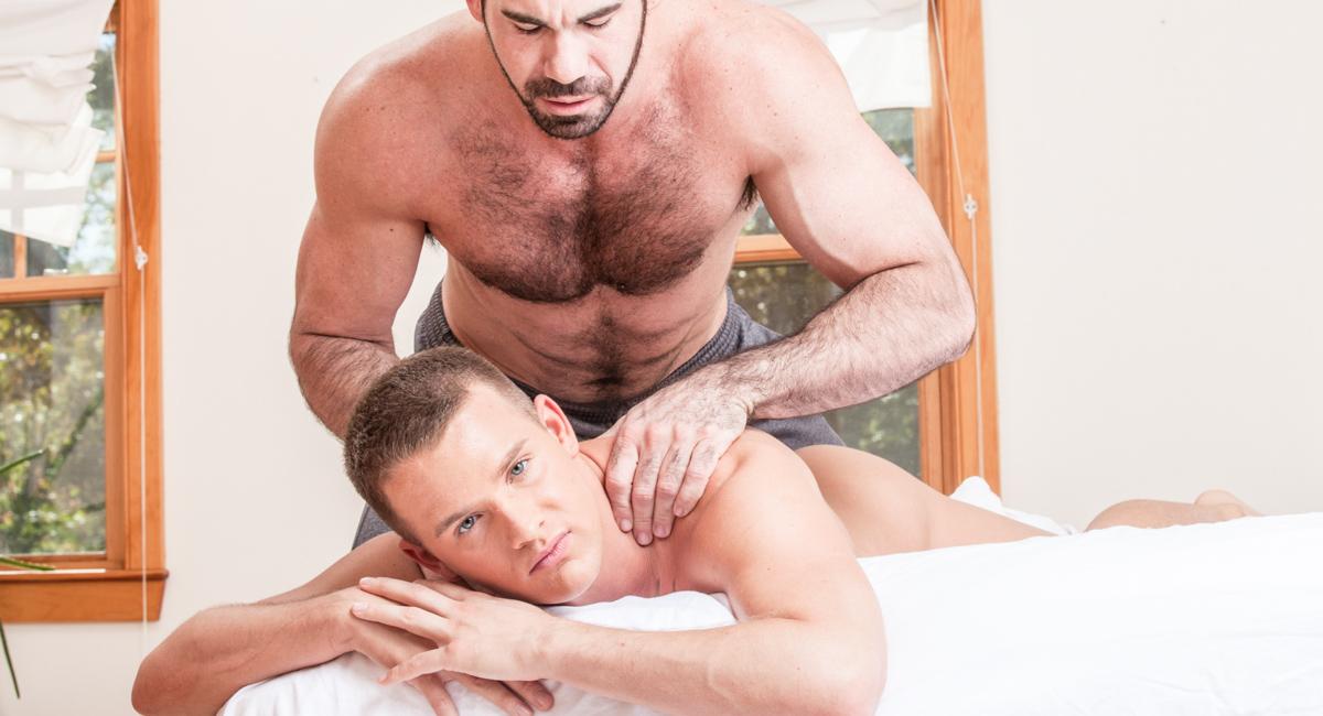 Billy Santoro & Brandon Wilde in Gay Massage House 2 Video Big tit wife ass fucked