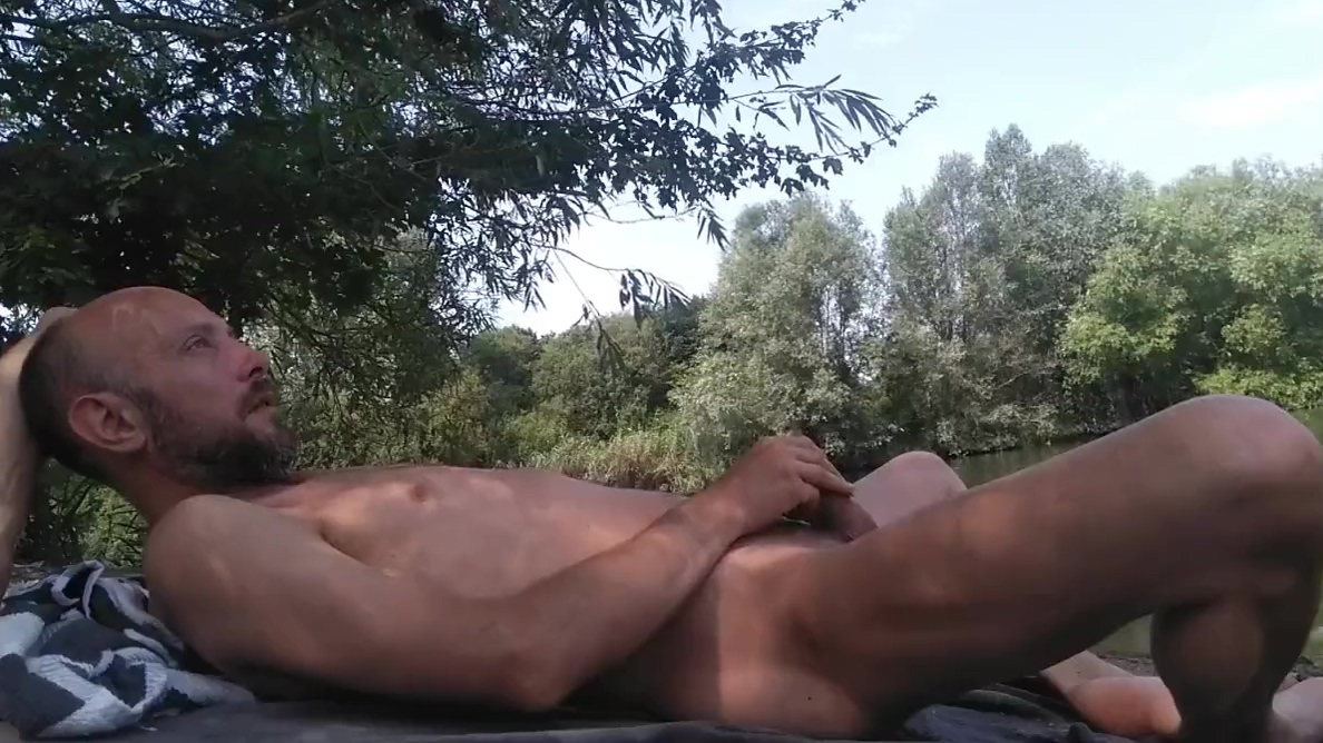 Crazy dude masturbating full nude near a public canal Shaylynn from thick and busty