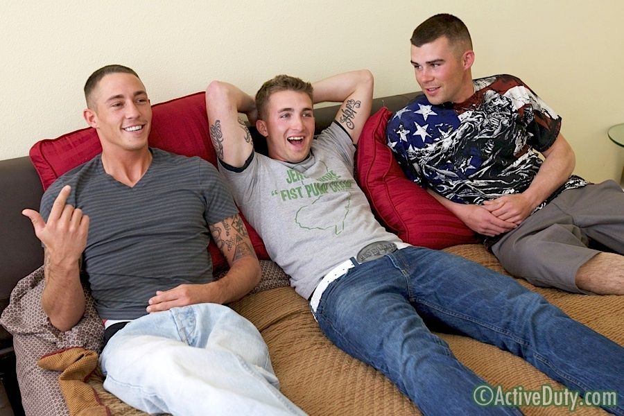 Cory, Diego & Kale Military Porn Video ass squirting fucked anal gay suck