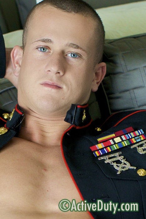 Jackson In Uniform Military Porn Video Nude horny dripping pussy