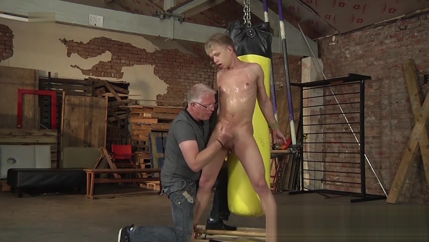 Young slave Chris Jansen tied up and punched by his master Delicious ssbbw