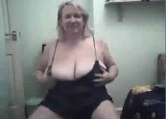 big boobed webcam Naughty older darling is teasing her lusty nipps