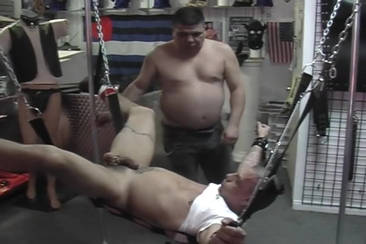 Bondage and anal in the store - Pig Daddy Hot girl shows tits gif
