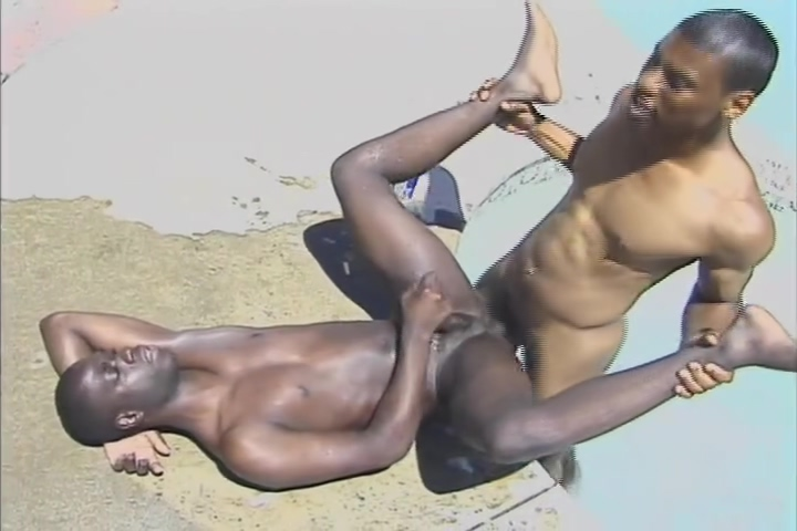 Outdoor Ebony Fun - Black Wolf hd gay porn video