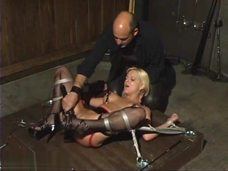 Blonde gets strapped up and pussy prodded Free Handjobs in Jurado