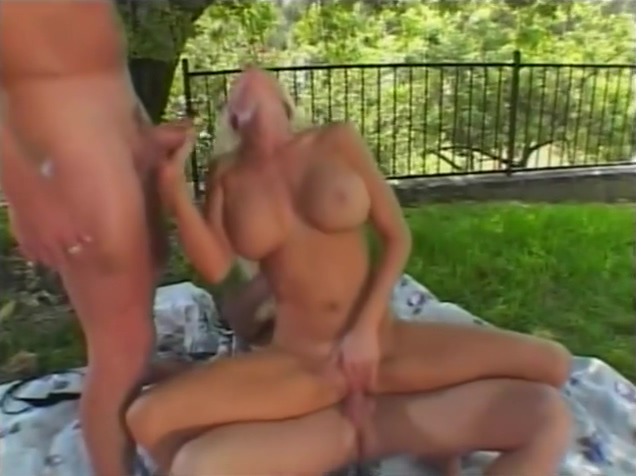 Busty Babe Fucks Her BF and His Friend - Camel Toe