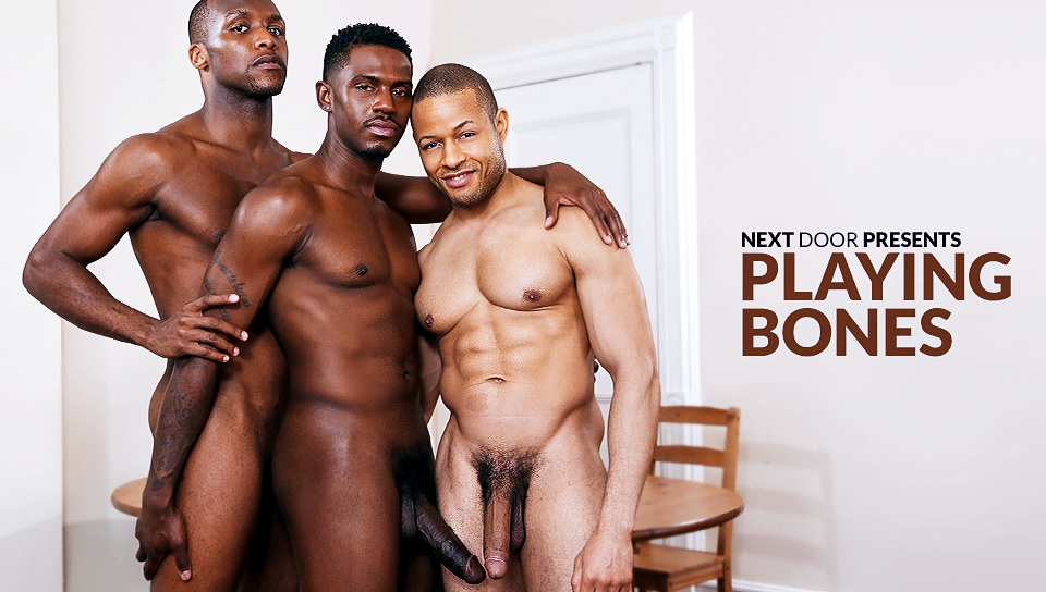 Krave Moore & Andre Donovan & Rex Cobra in Playing Bones XXX Video Naked Girl Caught On Camera