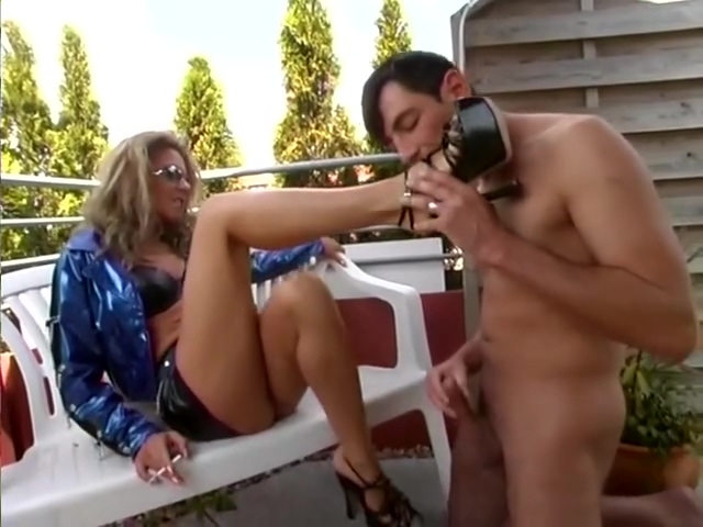 Submissive Guy Cums On Mistress Heels - SMALL TALK