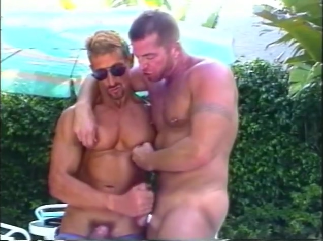 Sexy Hot Muscled Hunks By The Pool - Iron Horse New Old Sleep