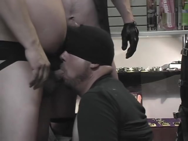 Blindfolded guy sucks at the store- Pig Daddy Productions Come watch us