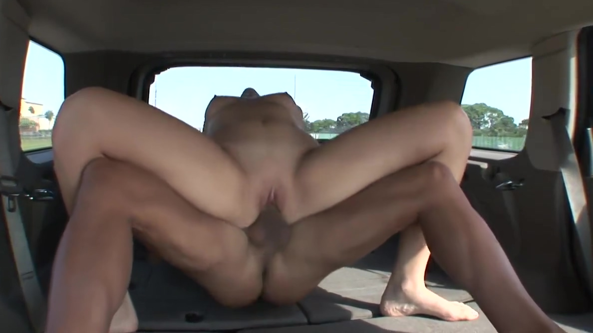 Manly dude picks up cute blonde to fuck in his car Tushy huge black cock stretches wifes asshole