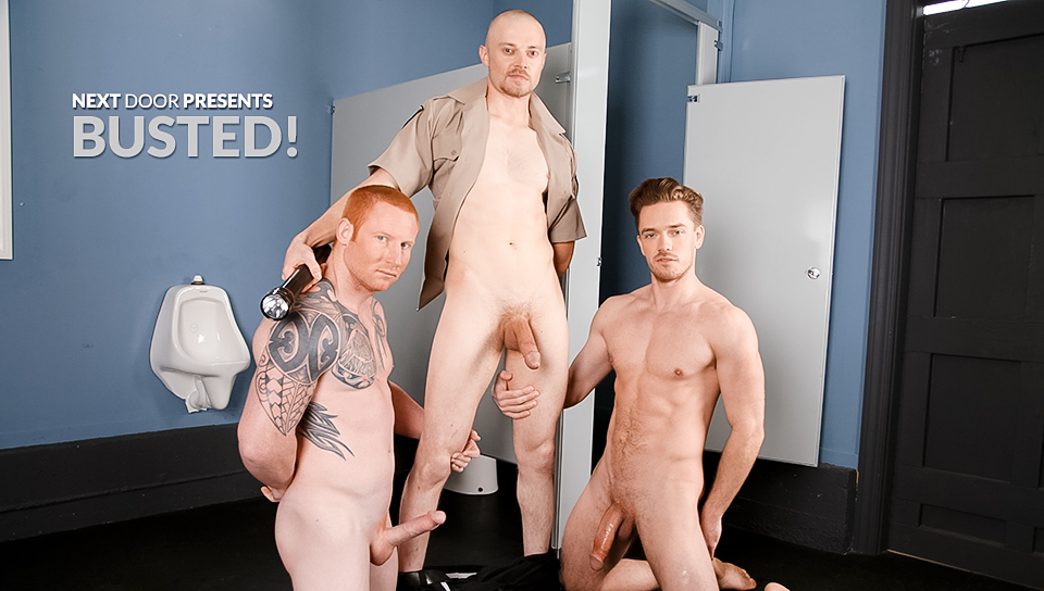 Justin Star & Lucas Knight & Jordan A in BUSTED! XXX Video Busty girl wearing costume