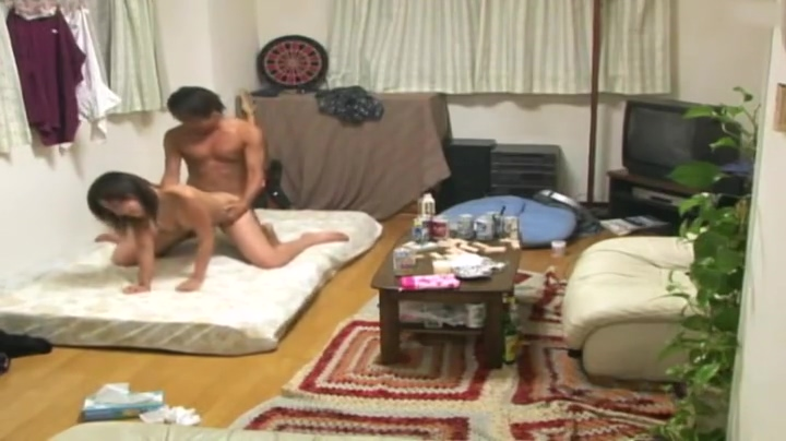 Enticing oriental hussy having sex in group