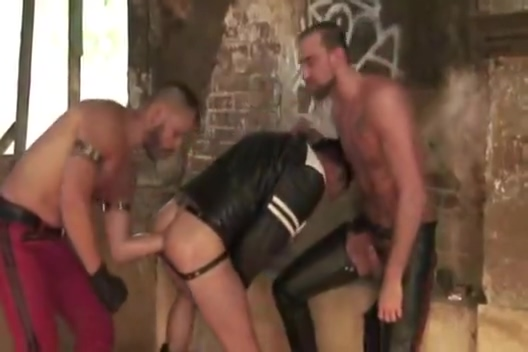 Leather Biker on Tour ass anal inserted ass funck