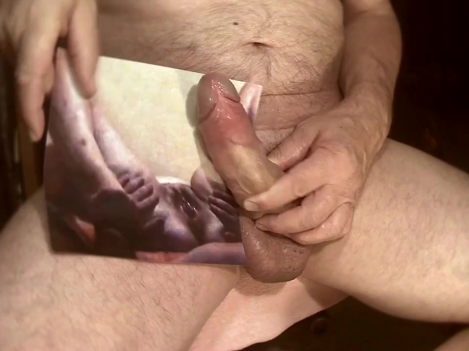 Tribute for trilocam - cumshot on her shaved cunt pushed his cock into my ass