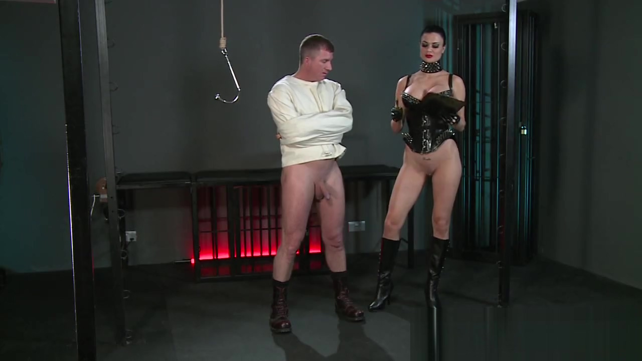 BDSM XXX Subs are humiliated before anal hook comes out to play girl breast feeding video