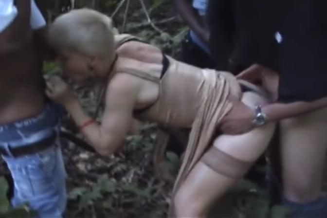 outdoor sercert gangbang - Java Productions Bikini whore blowjob penis and fuck
