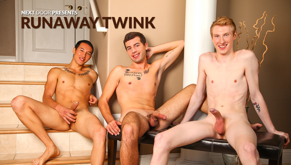 Danny Forest & Ashton Miller & Anthony Scott in Runaway Twink XXX Video Two black women are fucked
