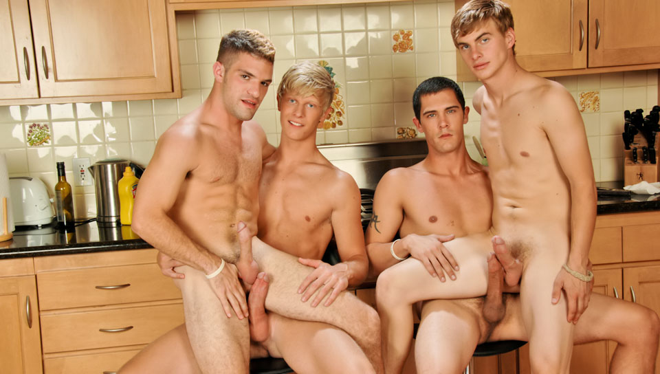 Adam Wirthmore & Alex Waters & Noah Brooks & Jay Kohl in The Twinks Gourmet XXX Video 2 women and man having sex