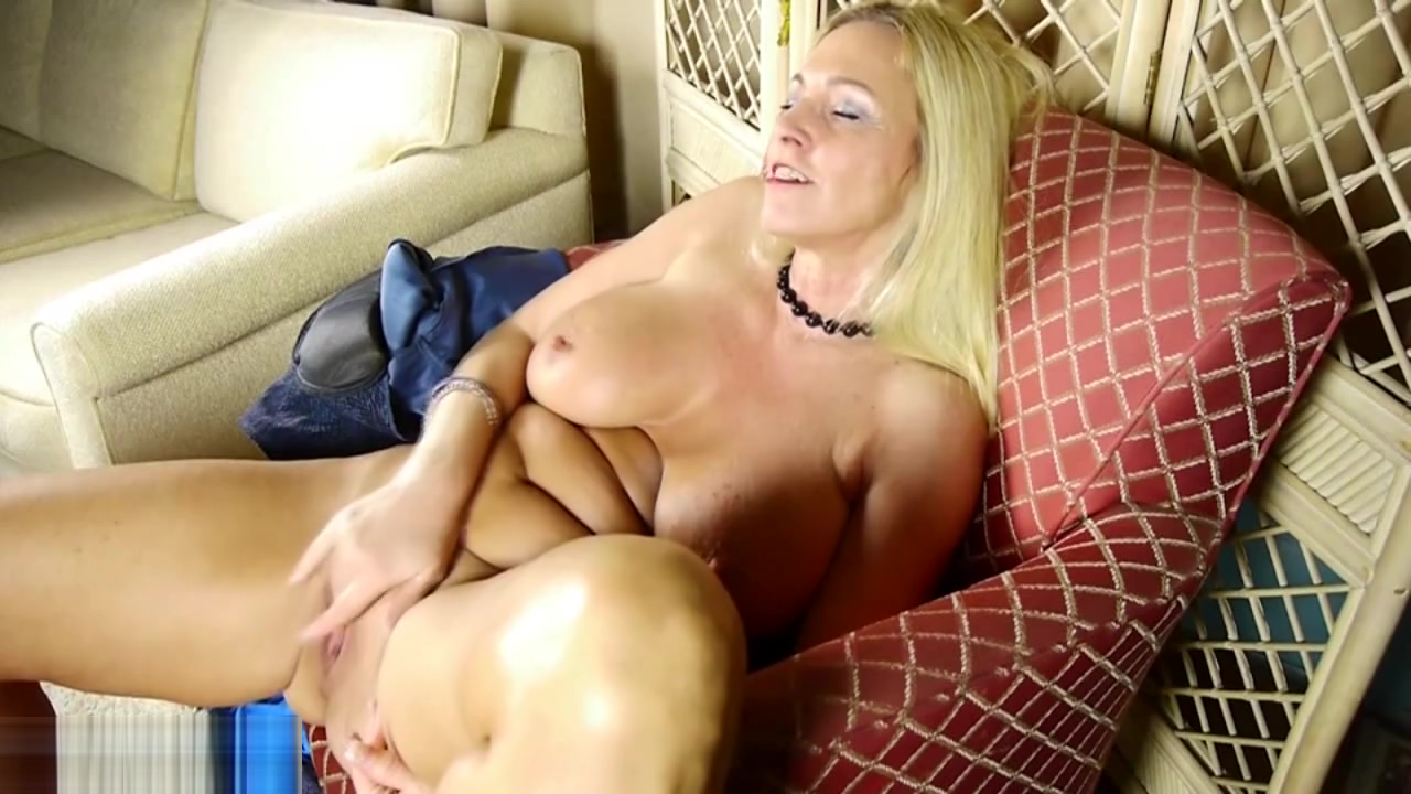 Mature woman having fun with her wet pussy Milf and sleeping neighbor boy