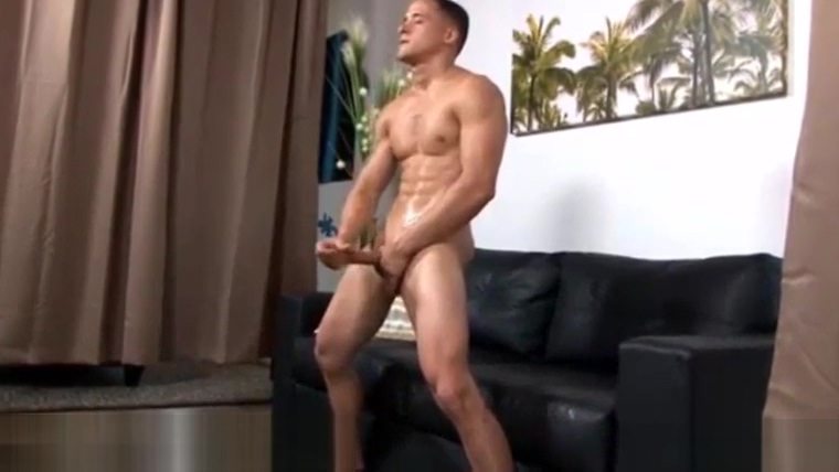 Horny Guy Jerking Off on Casting girl instructs suck own